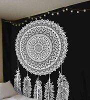Large Mandala Wall Hanging Black And White Dream Catcher Tapestry Queen Wall Art