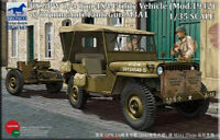 Bronco 1/35 35107 GPW 1/4 Ton 4x4 Utility Truck w/ M3A1 37mm Gun Hot