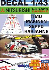 DECAL 1/43 MITSUBISHI LANCER EVO III T.MAKINEN R.ARGENTINA 1996 WINNER (01)