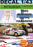 DECAL 1/43 MITSUBISHI LANCER EVO III T.MAKINEN R.ARGENTINA 1996 WINNER (01)