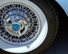"Tire Side White wall Portawall Topper Atlas 16"" Rubber Tire Ring Set of 4"