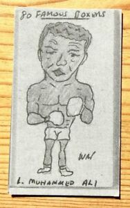 W R PRIDDY BOXING CARD NUMBER 1 MUHAMMAD ALI USA HEAVYWEIGHT WORLD CHAMPION