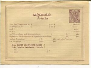 Bosnia and Herzegovina 5H telegramme receipt, mint