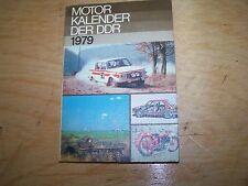 Calendrier Automobile Moteur livre de DDR 1979 SIMSON W50 NVA WARTBURG trabant