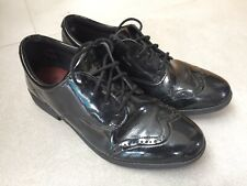Clarks Girls Patent Brogue School Shoes Size 6UK
