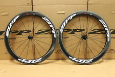 Zipp 404 Firecrest carbon clincher rim brake front rear wheelset white