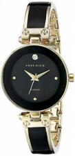Anne Klein Women's Lady Diamond Accented Dial Black Gold Tone Dial Watch Gift