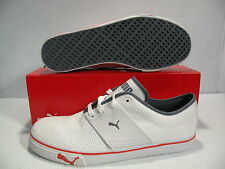 PUMA EL ACE LEATHER LOW MEN SHOES WHITE/GRISAILLE 349901-35 SIZE 12 NEW