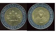 SAN MARIN    ITALY   500 lire 1984   ( bis )