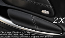 WHITE STITCH FITS PORSCHE BOXSTER 986  2X DOOR ARMREST LEATHER COVERS ONLY