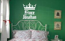 Personalizar Prince tu nombre Autoadhesiva De Vinilo El Arte De Pared Infantiles Cuarto De Niños P1