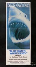 BLUE WATER WHITE DEATH * 1971 MOVIE POSTER SHARK JAWS