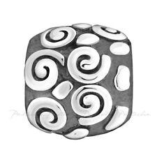 Lovelinks Bead Sterling Silver, Swirls & Dots Bead Fashion Charm Jewelry TT169