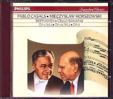 Pablo CASALS & Mieczyslaw HORSZOWSKI: BEETHOVEN 3 Cello Sonata CD Cellosonaten