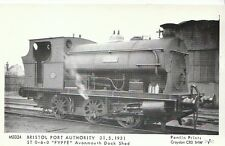 """Railway Postcard - Bristol Port Authority - """"Fyffe"""" at Avonmouth Dock Shed 2241"""