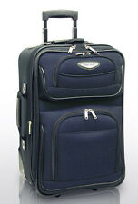"""Travel Select Blue Navy Amsterdam 21"""" Carry-on Expand Rolling Luggage Suitcase"""