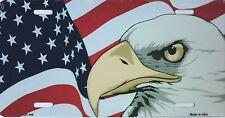 PLAQUE DE VOITURE AMERICAINE-AMERICAN EAGLE USA -NEUVE - DECORATION USA/ BIKER