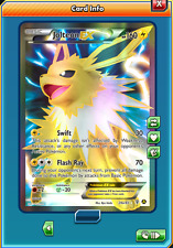 FA Jolteon-EX Promo FULL ART for Pokemon TCG Online (in Game PTCGO Card)