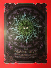 The Black Keys 12/4/2014 Poster Baltimore MD S/N #/6 Thick Red Vellum Variant