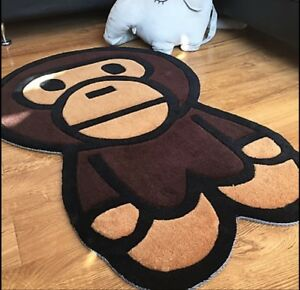 New Large Heavy Bape Ape Area Rugs Carpet Floor door Mat Decor  Living Room