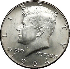 1964  President John F. Kennedy Silver Half Dollar United States USA Coin i44616