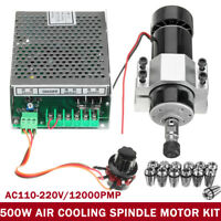 CNC Air Cooling 500W Spindle Motor+Speed Governor+13 ER11 Spring +52MM Clamp