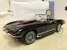 Rare 1/24 Franklin Mint Black Red 1967 Corvette L88 Convertible S11E817 LE 150