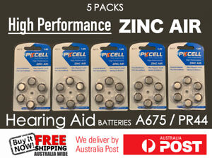 30x PK Cell Zinc Air Hearing Aid Batteries  PR44 / A675 - Aussie Outlet Online