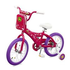 "New Tomy John Deere Heavy Duty 16"" Girl's Bicycle Hot Pink"