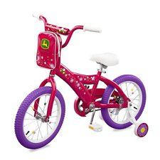 "New Tomy John Deere Heavy Duty 16"" Girl's Bicycle Hot Pink"