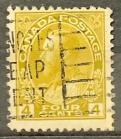 Canada. Definitive Stamp Olive Yellow. SG249. 1922-31. Used. #AJ343