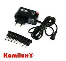 LED Universal-Steckernetzgerät Netzgerät 3-12V regelbar, Kurzschlussfest Kamilux
