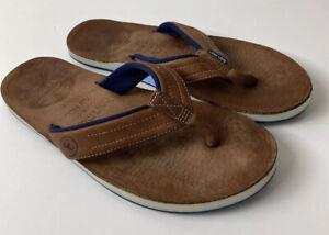 hari mari Peter Millar Men Sandals Thong Brown Flip Flops Size 10