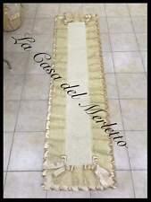 Tappeto corsia tipo sardo con merletto in tulle e raso avorio mis mt 240