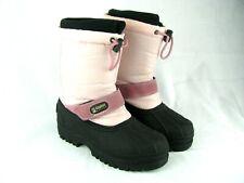 Alpine Design Womens Snow Boots Size 5 Black Pink Winter Bungee Liner Warm