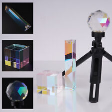 More details for selens photography crystal triangular prism cube ball with 1/4'' hole + stand uk