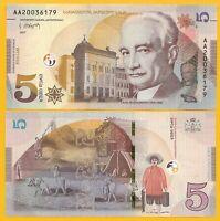 Georgia 5 Lari p-76 2017 UNC Banknote