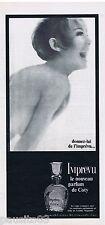 PUBLICITE ADVERTISING 105  1966  COTY     parfum IMPREVU