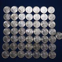 Pre-1921 Morgan Silver Dollars BU Lot of 50 Coins 1878-1904