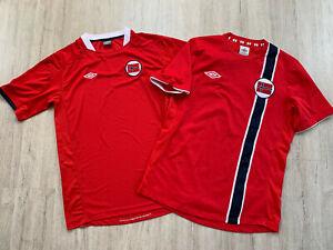 2010 2011 2013 2014 Norwegen Fußball Trikot Norway Football Jersey Shirt Umbro M