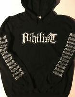 NIHILIST Hoodie HOODED Sweat shirt Death Metal AUTOPSY ENTOMBED CARNAGE  S- XL