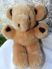 1979  GUND   Baby STITCH   Bear Tan W/ Dark Brown Paws Small  Plush Korea  9""