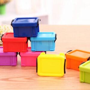Plastic Rectangle With Lid Storage Box Container Case Organizer Mini Cute