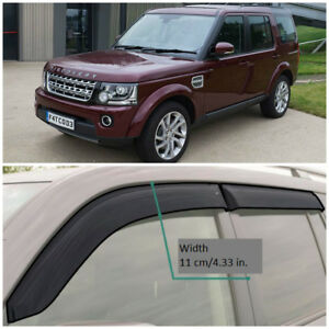 LE10104 Window Visors Vent Wide Deflectors For Land Rover Discovery 2004-2016