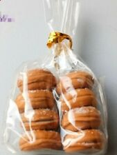 Doll House Accessories 1:12th Miniature - Set of 8 Donuts