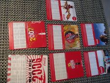 7 calendario tascabile/Pocket Calendar'S DI COCA COLA 12x 9 cm 2006 a 2012 NUOVO