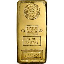Kilo 32.15 oz Gold Bar RCM Royal Canadian Mint .9999 Fine with Assay Certificate