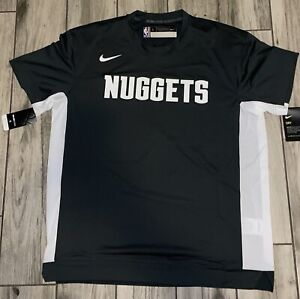 New Nike NBA Authentic Shooting Shirt Showtime Denver Nuggets Large L Warm Up