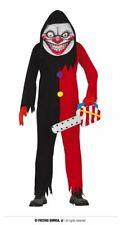 Adults Mens Halloween Evil Smile Clown Adults Fancy Dress Costume