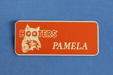 HOOTERS RESTAURANT GIRL PAMELA ORANGE NAME TAG / PIN -  Waitress Pin